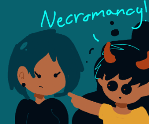 Devil boy accuses girl of necromancy
