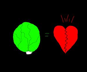 Iceberg lettuce is a heartbreaker