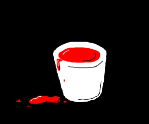 barrel full of blood