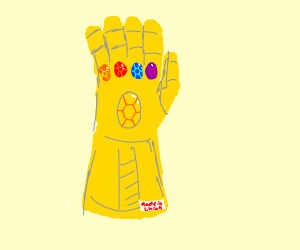 The Infinity Gauntlet was made in China.