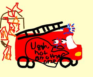 overworked firetruck