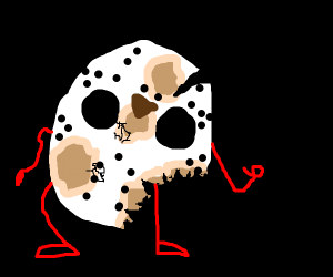 Jason mask grew arms and legs