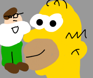 Homer Simpson and Peter Griffin