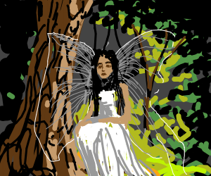angelic fairy in forest