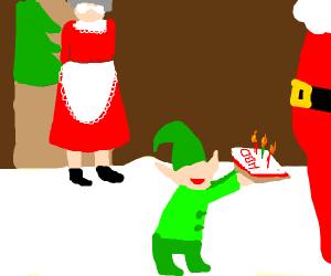 It's santa's Birthday