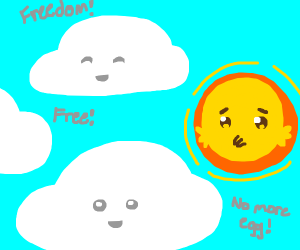 take out egg yolk to get cloud