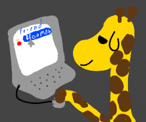 Giraffe befriends a hooman