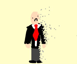 Thanos turns man in suit to dust