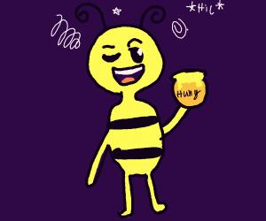 Bee gets drunk on honey. Denies being drunk