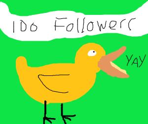 100 Followers: Duck Celebrating