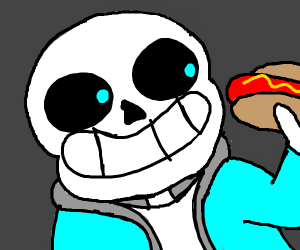 sans wants a hotdog