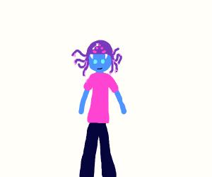 Person wearing Knitted Cthulhu Balaclava