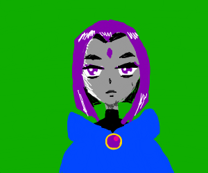Raven from teen titans (NOT GO)