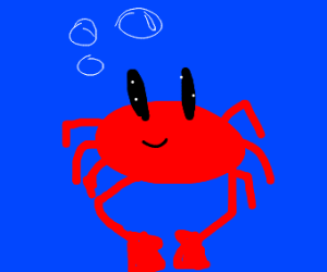 red crab in water