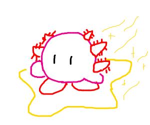 If Kirby was an Axolotl