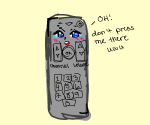 Tv remote with face