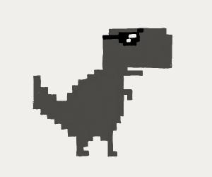 No internet dinosaur wearing sunglasses