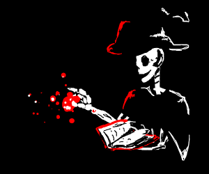 Skeleton Mage casting a spell