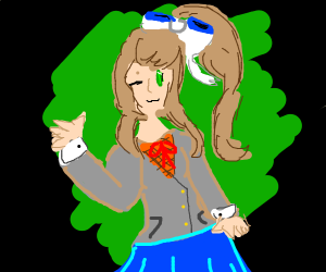A girl from Doki Doki Literature Club