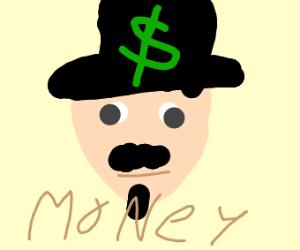 moustache man has money