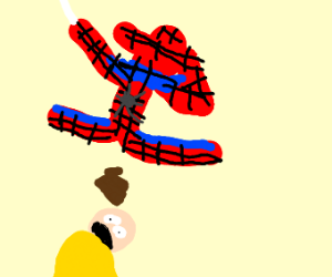 spiderman, dabbing and pooping on some guy