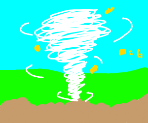 Gold Nugget in a Tornado