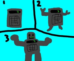 calculator becomes robot