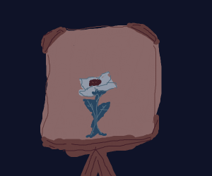 Painting of a painting of a flower