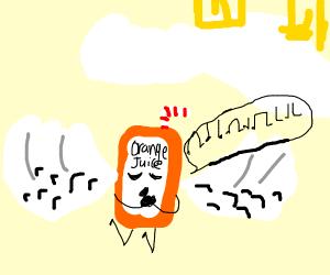 Orange juice gone to heaven