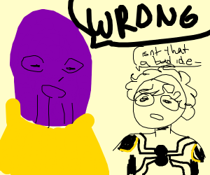Thanos corrects questions