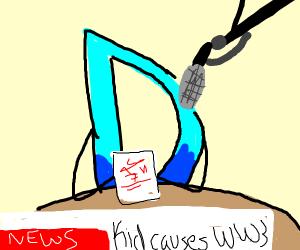 This in Drawception news: Kids cause WW3