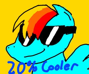 Rainbow dash 20percent cooler