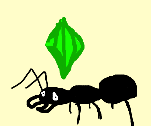 An ant in sims 4