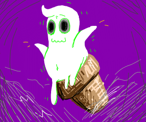 Ice cream ghost