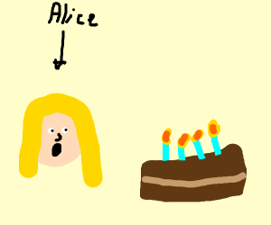 Alice found the cake!