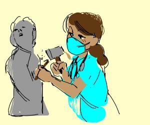 Nurse Sculptor