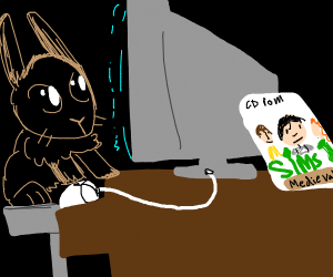 bunny playing the sims: medieval