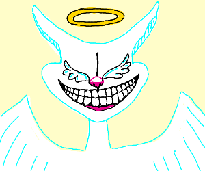 Cheshire Angel has wings instead of eyes