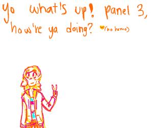 Hello panel 2 I'm panel 1 ... hello