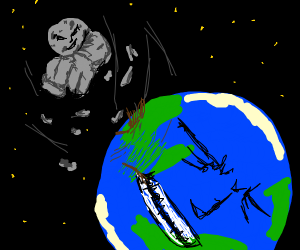 Earth gets punched by the moon