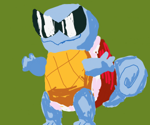 Squirtle being cool