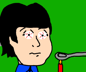 paul mccartney (possibly after doing crack)