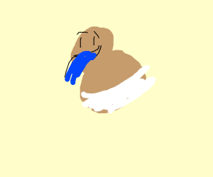 Baby puking water