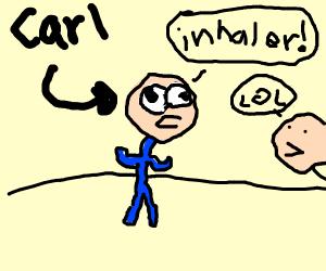 Carl Wheezer is sad