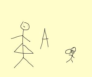 woman a child