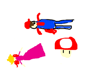 Super Mushroom beat Peach, who beat Mario