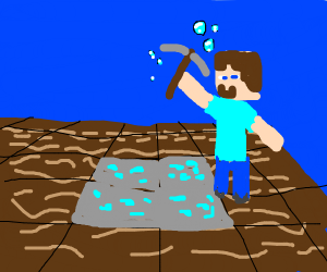 Mining for diamonds under water