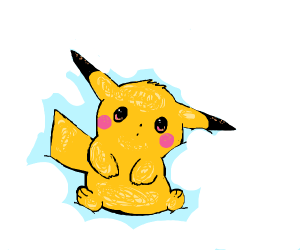A very soft and happy pikachu