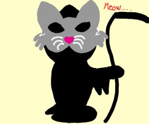 the grim reaper wears a cat mask