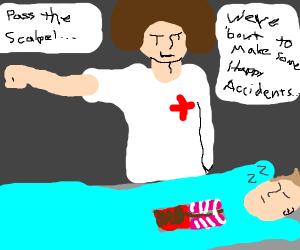 bob ross as a doctor